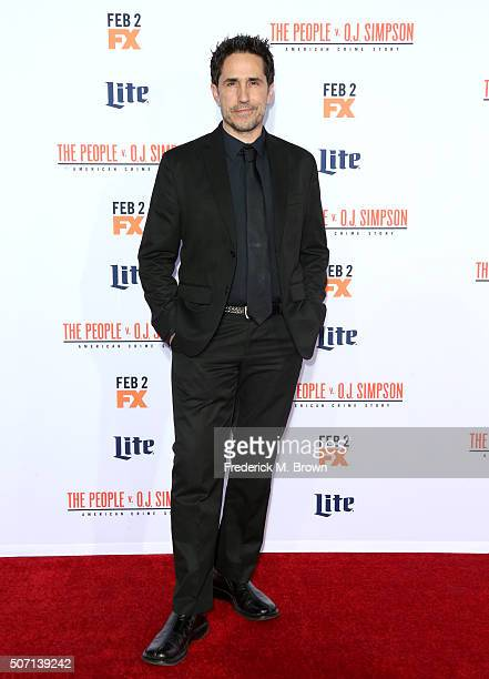 Actor Mac Quayle attends the premiere of FX's 'American Crime Story The People V OJ Simpson' at Westwood Village Theatre on January 27 2016 in...