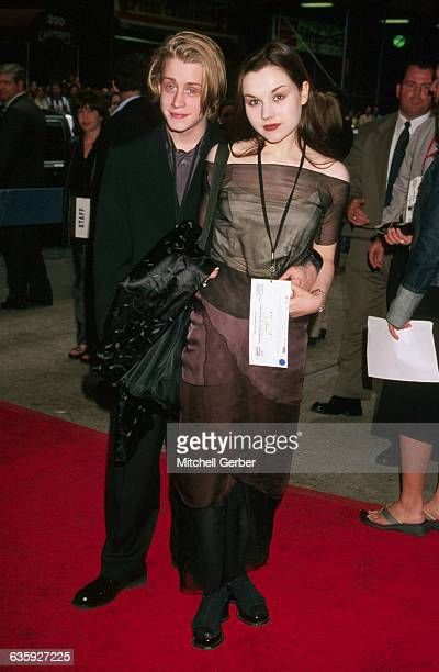Actor Macaulay Culkin and his wife actress Rachel Miner at the premiere of the movie Star Wars Episode 1 The Phantom Menace at the Loews Astor Place...