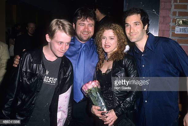 Actor Macaulay Culkin director Adam Marcus actress Bernadette Peters and actor Kipp Marcus attend the Let It Snow Premiere Party on June 6 2001 at...