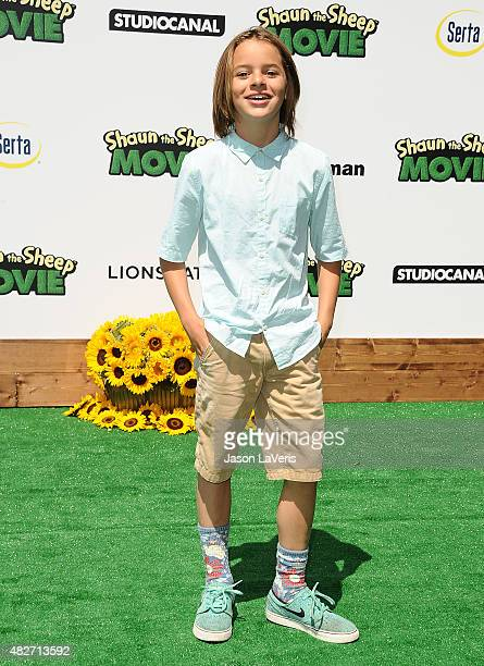 Actor Mace Coronel attenda a screening of Lionsgate's 'Shaun The Sheep Movie' at Regency Village Theatre on August 1 2015 in Westwood California
