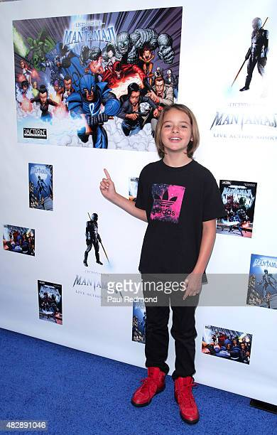 Actor Mace Coronel attends the premiere of 'Legend Of The Mantamaji' at Harmony Gold on August 3 2015 in Los Angeles California
