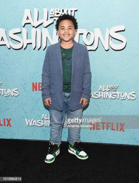 Actor Maceo Smedley arrives at a screening of Netflix's 'All About The Washingtons' at Madera Kitchen Bar on August 8 2018 in Hollywood California