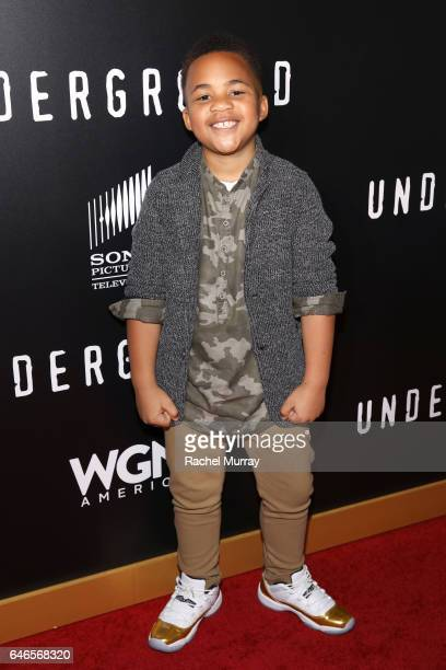 Actor Maceo Smedley attends WGN America's Underground Season Two Premiere Screening at Regency Village Theatre on March 1 2017 in Westwood California