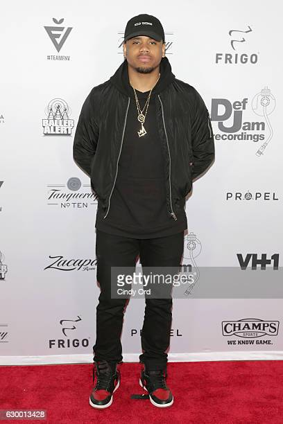 Actor Mack Wilds attends The 2016 Def Jam Holiday Party sponsored by VH1 The Breaks Champs Sports Tanqueray 10 Zacapa Rum at Spring Place on December...