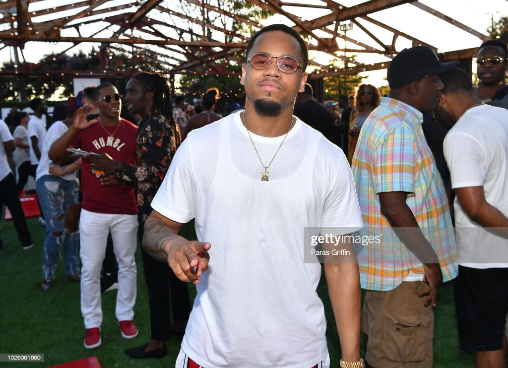 Actor Mack Wilds attends The 'Bobby-Q' Atlanta Premiere Of 'The Bobby Brown Story' at Atlanta Contemporary Arts Center on September 1, 2018 in Atlanta, Georgia.
