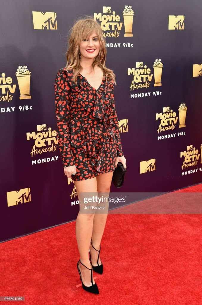 Actor Madchen Amick attends the 2018 MTV Movie And TV Awards at Barker Hangar on June 16, 2018 in Santa Monica, California.