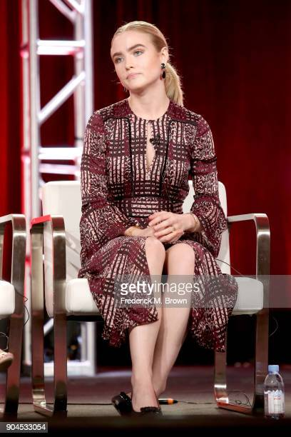 Actor Maddie Hasson of 'Impulse' speaks onstage during the YouTube portion of the 2018 Winter Television Critics Association Press Tour at The...