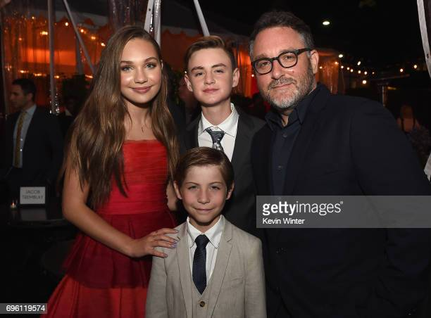 Actor Maddie Ziegler actor Jaeden Lieberher actor Jacob Tremblay and director Colin Trevorrow attend the Opening Night Party during the 2017 Los...