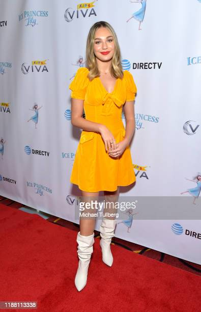 """Actor Maddie Ziegler and attends the Los Angeles premiere of """"Ice Princess Lily"""" at AMC Santa Monica 7 on November 16, 2019 in Santa Monica,..."""