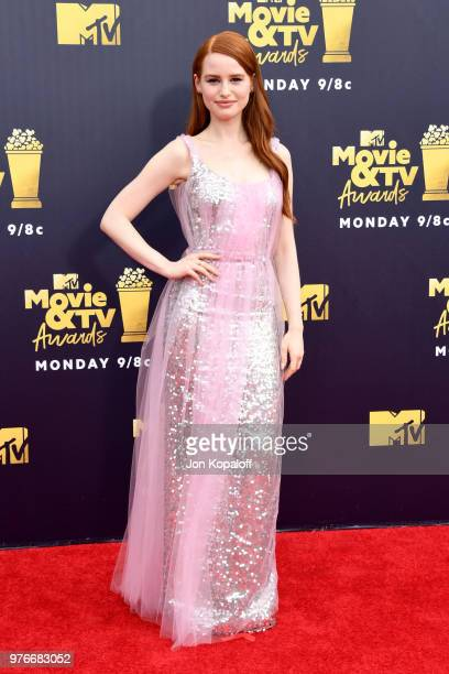 Actor Madelaine Petsch attends the 2018 MTV Movie And TV Awards at Barker Hangar on June 16 2018 in Santa Monica California