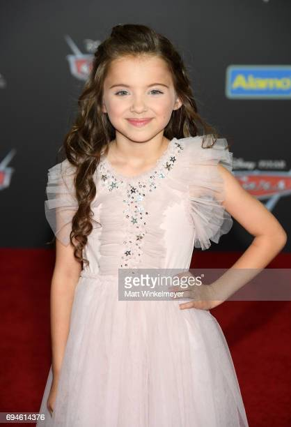 Actor Madeleine McGraw attends the premiere of Disney and Pixar's 'Cars 3' at Anaheim Convention Center on June 10 2017 in Anaheim California