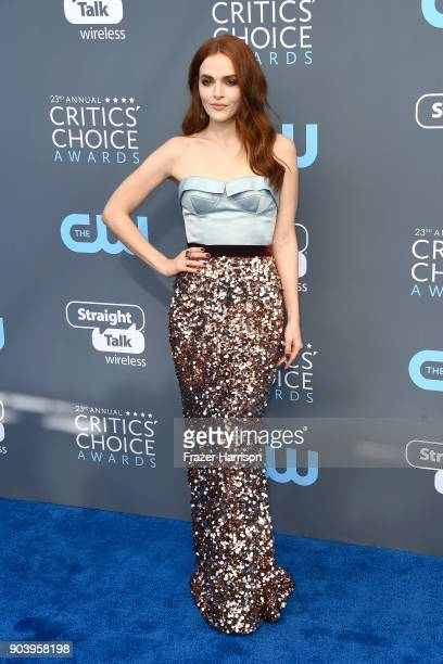 Actor Madeline Brewer attends The 23rd Annual Critics' Choice Awards at Barker Hangar on January 11 2018 in Santa Monica California
