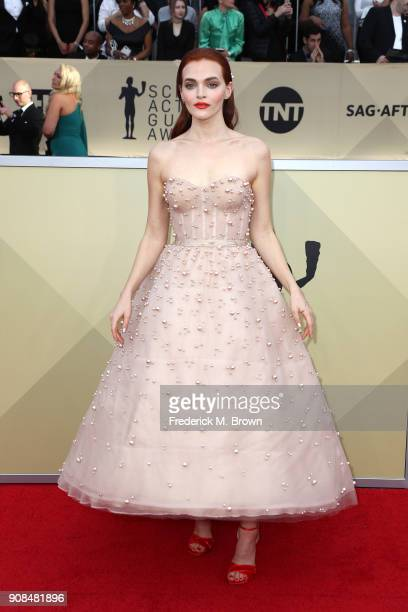 Actor Madeline Brewer attends the 24th Annual Screen Actors Guild Awards at The Shrine Auditorium on January 21 2018 in Los Angeles California...