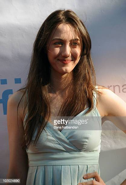 Actor Madeline Zima arrive at the showing of The Family at McCaw Hall on June 12 2010 in Seattle Washington