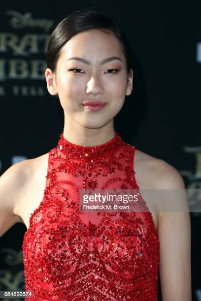 Actor Madison Hu attends the premiere of Disney's Pirates Of The Caribbean Dead Men Tell No Tales at Dolby Theatre on May 18 2017 in Hollywood...
