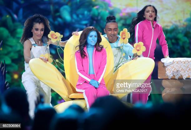 Actor Madisyn Shipman performs onstage onstage at Nickelodeon's 2017 Kids' Choice Awards at USC Galen Center on March 11 2017 in Los Angeles...