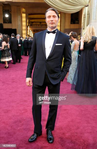 Actor Mads Mikkelsen arrives at the Oscars at Hollywood Highland Center on February 24 2013 in Hollywood California