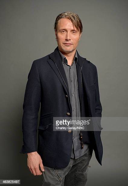 Actor Mads Mikkelsen attends the 2014 NBCUniversal TCA Winter Press Tour Portraits at Langham Hotel on January 19, 2014 in Pasadena, California.