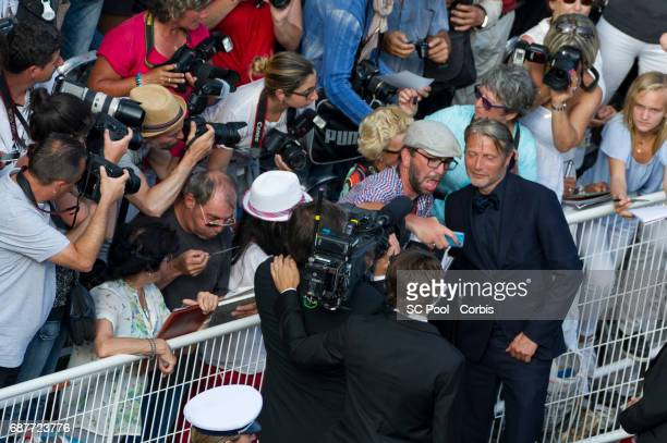 Actor Mads Mikkelsen attends the 70th Anniversary of the 70th annual Cannes Film Festival at Palais des Festivals on May 23 2017 in Cannes France