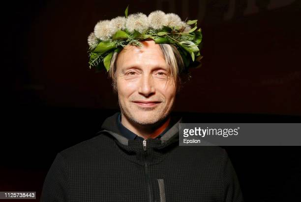Actor Mads Mikkelsen attends the 'Arctic' Russian premiere at Documentary Film Center on February 18, 2019 in Moscow, Russia.