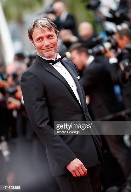 """Actor Mads Mikkelsen attends the closing ceremony and """"Le Glace Et Le Ciel"""" Premiere during the 68th annual Cannes Film Festival on May 24, 2015 in..."""
