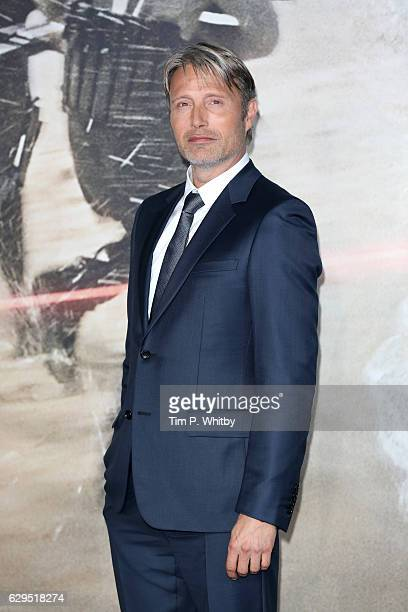Actor Mads Mikkelsen attends the launch event for 'Rogue One A Star Wars Story' at Tate Modern on December 13 2016 in London England
