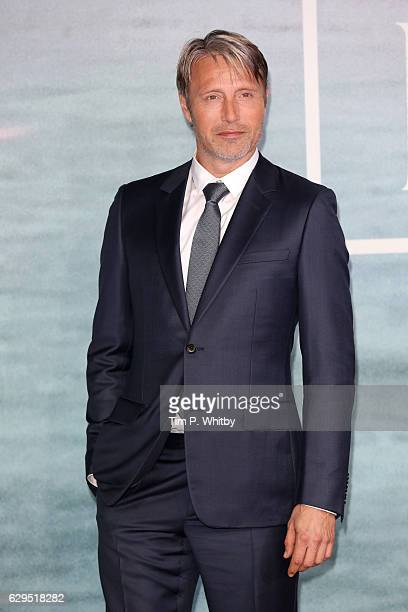 """Actor Mads Mikkelsen attends the launch event for """"Rogue One: A Star Wars Story"""" at Tate Modern on December 13, 2016 in London, England."""
