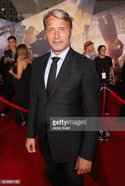 """Actor Mads Mikkelsen attends The Los Angeles World Premiere of Marvel Studios' 'Doctor Strange"""" in Hollywood CA on Oct 20th 2016"""