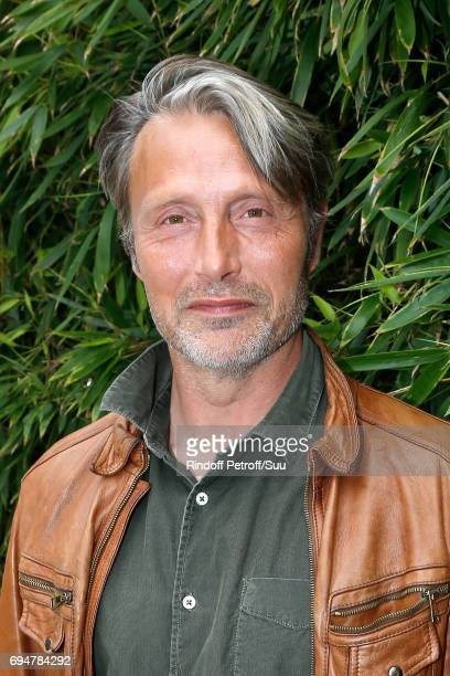 Actor Mads Mikkelsen attends the Men Final of the 2017 French Tennis Open Day Fithteen at Roland Garros on June 11 2017 in Paris France