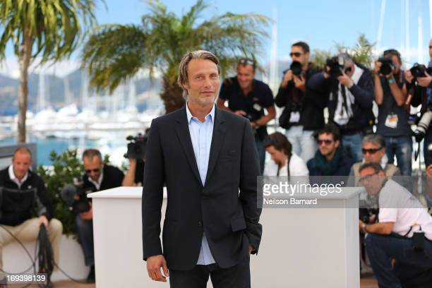 Actor Mads Mikkelsen attends the 'Michael Kohlhaas' photocall during The 66th Annual Cannes Film Festival at the Palais des Festivals on May 24 2013...