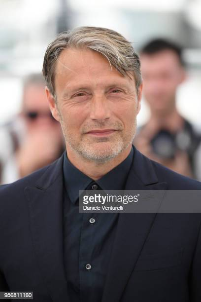 """Actor Mads Mikkelsen attends the photocall for """"Arctic"""" during the 71st annual Cannes Film Festival at Palais des Festivals on May 10, 2018 in..."""
