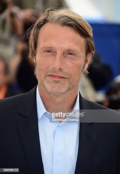 Actor Mads Mikkelsen attends the photocall for 'Michael Kohlhaas' at The 66th Annual Cannes Film Festival at Palais des Festivals on May 24 2013 in...
