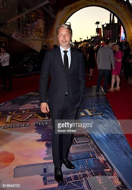 Actor Mads Mikkelsen attends the premiere of Disney And Marvel Studios' 'Doctor Strange' on October 20 2016 in Hollywood California