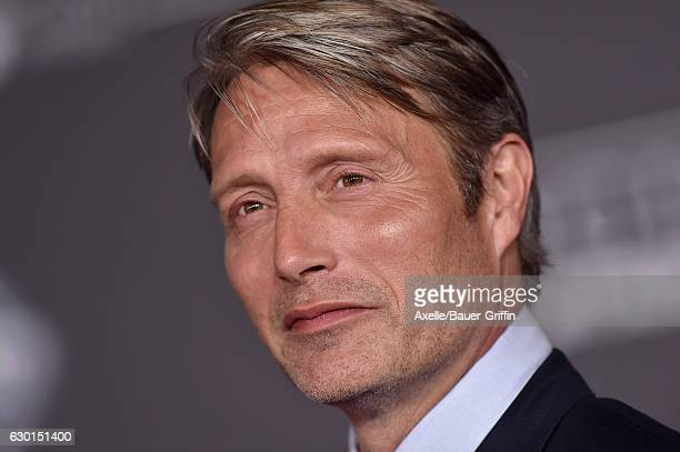 Actor Mads Mikkelsen attends the premiere of 'Rogue One A Star Wars Story' at the Pantages Theatre on December 10 2016 in Hollywood California