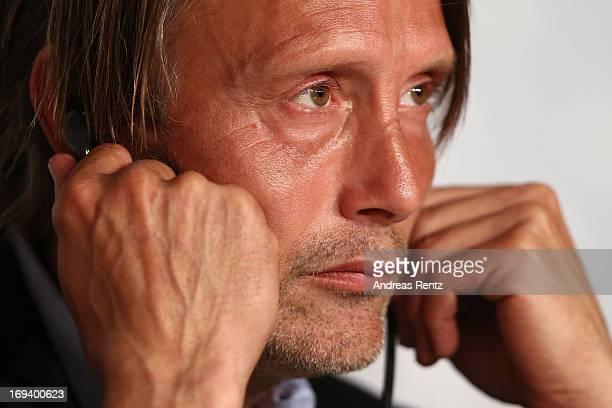 Actor Mads Mikkelsen attends the press conference for 'Michael Kohlhaas' during The 66th Annual Cannes Film Festival at Palais des Festivals on May...