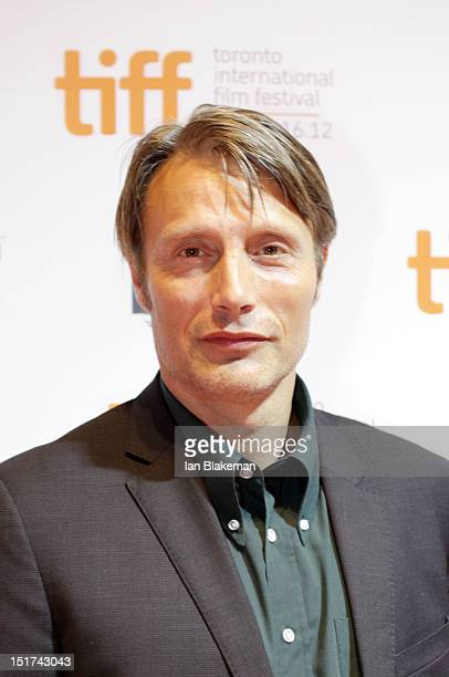 Actor Mads Mikkelsen attends the The Hunt Premiere during the 2012 Toronto International Film Festival at TIFF Bell Lightbox on September 10 2012 in...