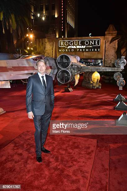 Actor Mads Mikkelsen attends The World Premiere of Lucasfilm's highly anticipated firstever standalone Star Wars adventure 'Rogue One A Star Wars...