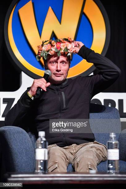 Actor Mads Mikkelsen attends Wizard World Comic Con at Ernest N Morial Convention Center on January 04 2019 in New Orleans Louisiana