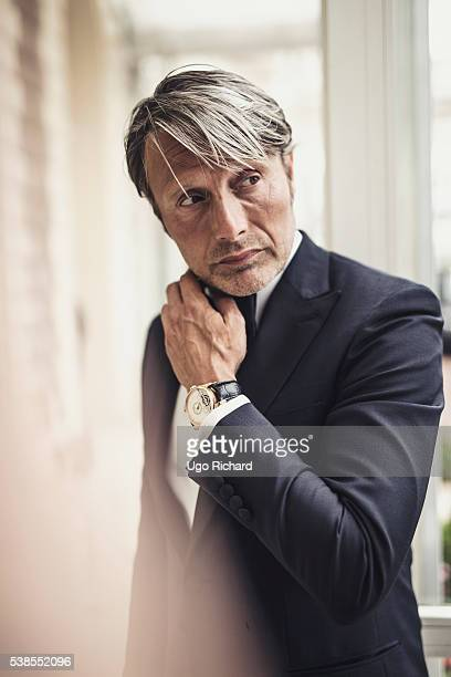 Actor Mads Mikkelsen is photographed for Self Assignment on May 15 2016 in Cannes France