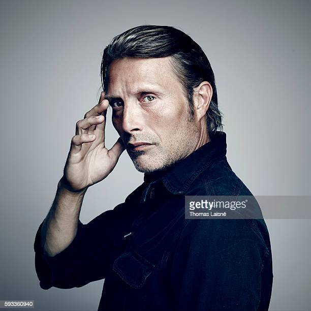 Actor Mads Mikkelsen is photographed for Self Assignment on May 17 2013 in Cannes France