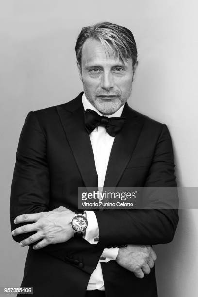Actor Mads Mikkelsen is photographed on May 10 2018 in Cannes France