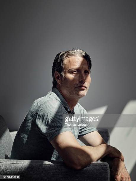 Actor Mads Mikkelsen is photographed on May 21 2017 in Cannes France