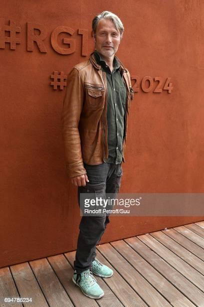 Actor Mads Mikkelsen is spotted at Roland Garros on June 11 2017 in Paris France
