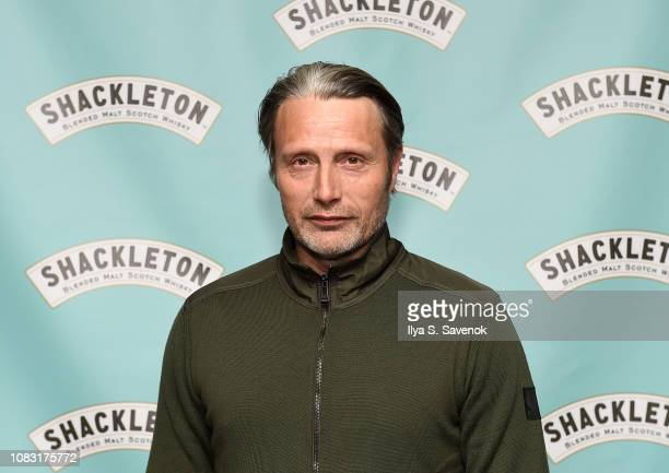 Actor Mads Mikkelsen poses during Shackleton Whisky Launches Speaker Series At Arlo NoMad Hosted By Charles Thorp at Arlo Nomad on January 15, 2019...
