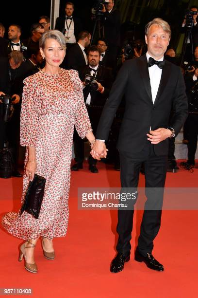 Actor Mads Mikkelsen with his wife Hanne Jacobsen attend the screening of 'Arctic' during the 71st annual Cannes Film Festival at Palais des...