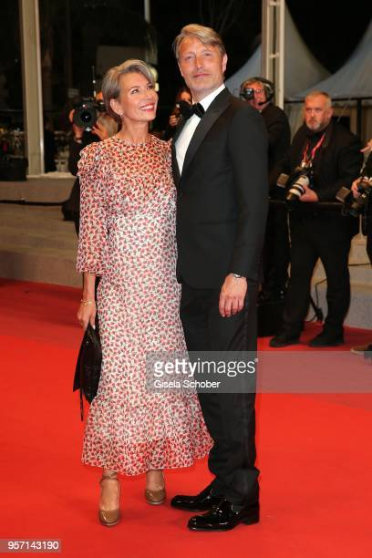 Actor Mads Mikkelsen with his wife Hanne Jacobsen attend the screening of Arctic during the 71st annual Cannes Film Festival at Palais des Festivals...