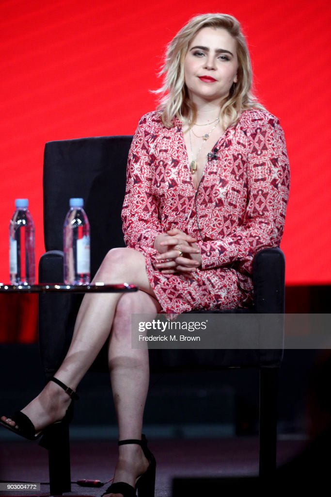 Actor Mae Whitman of 'Good Girls' speaks onstage during the NBCUniversal portion of the 2018 Winter Television Critics Association Press Tour at The Langham Huntington, Pasadena on January 9, 2018 in Pasadena, California.