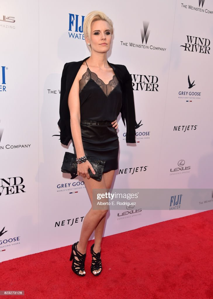 Actor Maggie Grace attends the premiere of The Weinstein Company's 'Wind River' at The Theatre at Ace Hotel on July 26, 2017 in Los Angeles, California.