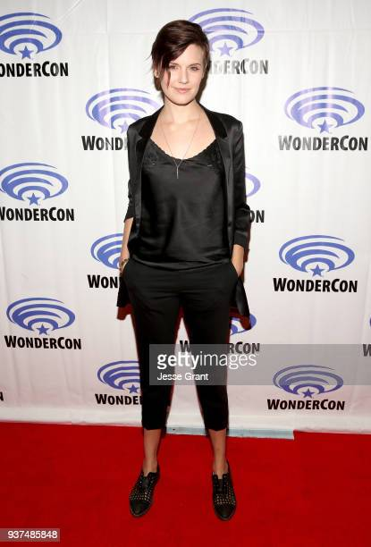 Actor Maggie Grace of AMC's 'Fear of the Walking Dead' attends WonderCon at Anaheim Convention Center on March 24 2018 in Anaheim California