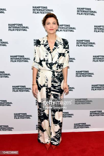 Actor Maggie Gyllenhaal attends A Conversation With Maggie Gyllenhaal at Bay Street Theater during Hamptons International Film Festival 2018 Day Two...